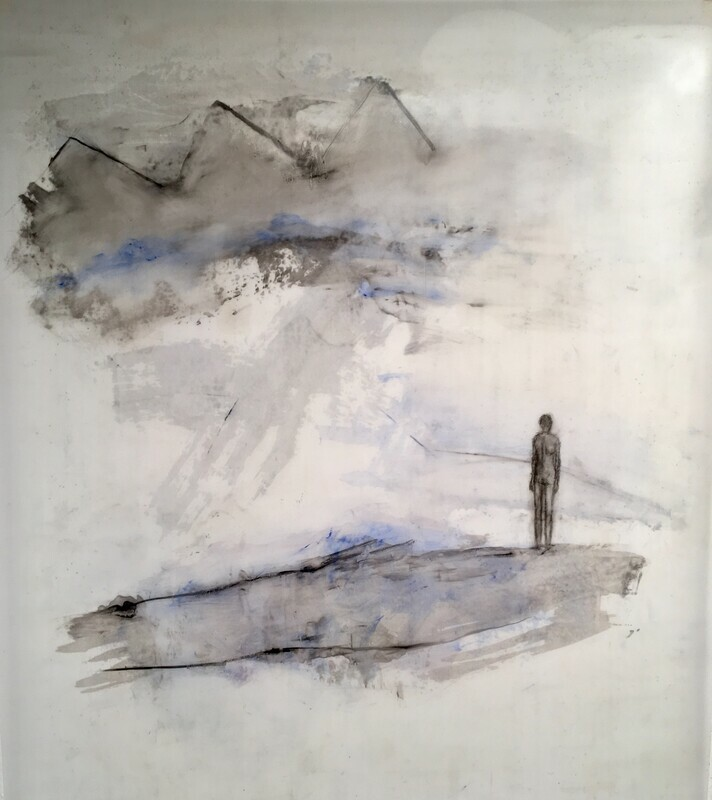 "Untitled oil on Mylar 52""x42"""